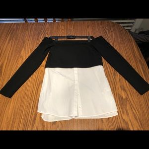 Zara two in one top